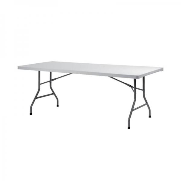 Table pliante rectangulaire gris clair - XXL - 2