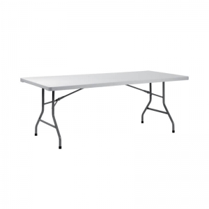 Table pliante rectangulaire gris clair - XXL