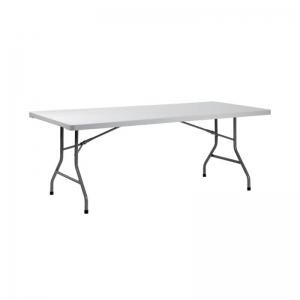 Table pliante rectangulaire gris clair - XXL