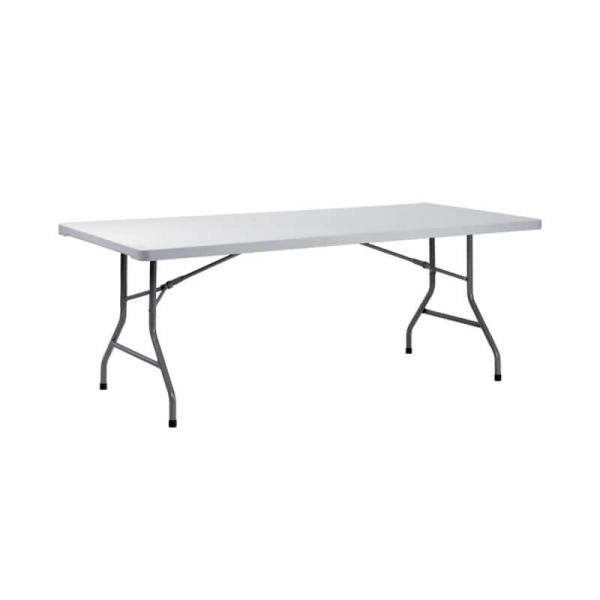 Table pliante rectangulaire gris clair - XXL - 1