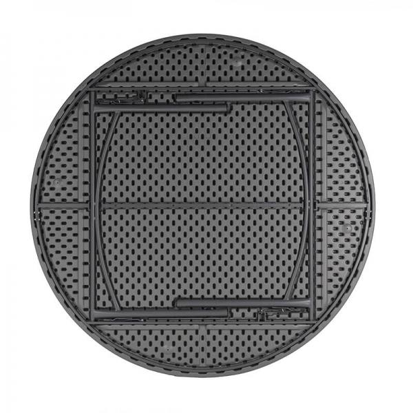 Table pliante ronde en plastique et métal gris clair - Planet - 2