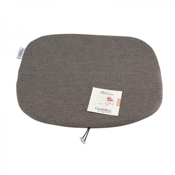 Coussin de fauteuil en tissu gris chiné - Ramatuelle Grosfillex - 45