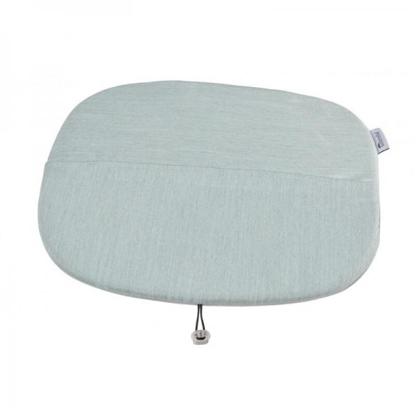 Coussin en tissu bleu chiné - Ramatuelle Grosfillex - 36