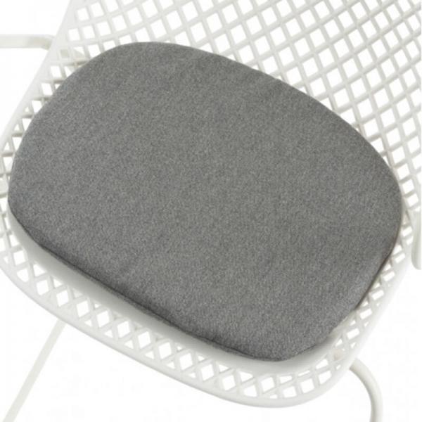 Coussin en tissu gris chiné - Ramatuelle Grosfillex - 41