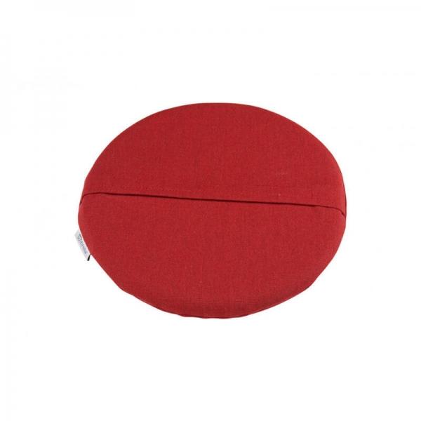 Coussin de fauteuil en tissu rouge chiné - Yéyé Grosfillex - 19