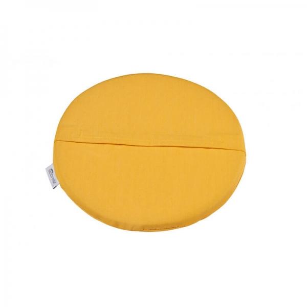 Coussin de fauteuil en tissu jaune chiné - Yéyé Grosfillex - 27