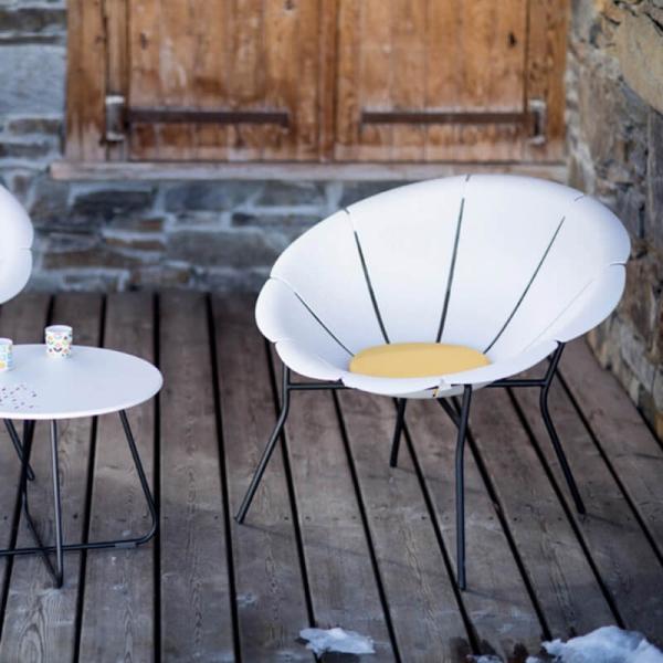 Fauteuil bas d'extérieur en forme de fleur - Yéyé Grosfillex - 3