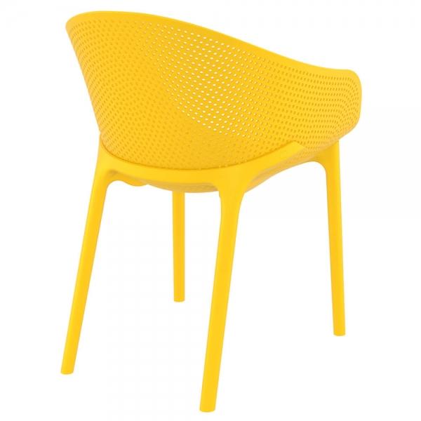 Fauteuil tendance en plastique jaune - Sky - 35