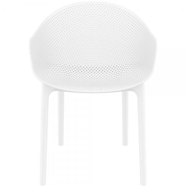 Fauteuil design pour terrasse en plastique blanc - Sky - 34