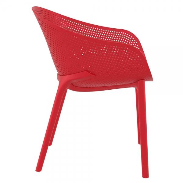 Fauteuil design pour jardin en plastique rouge - Sky - 30