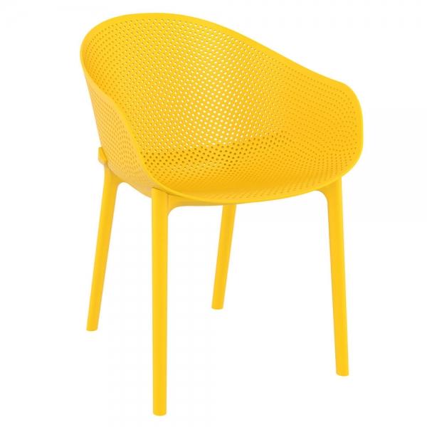 Fauteuil design pour jardin en plastique jaune - Sky - 35