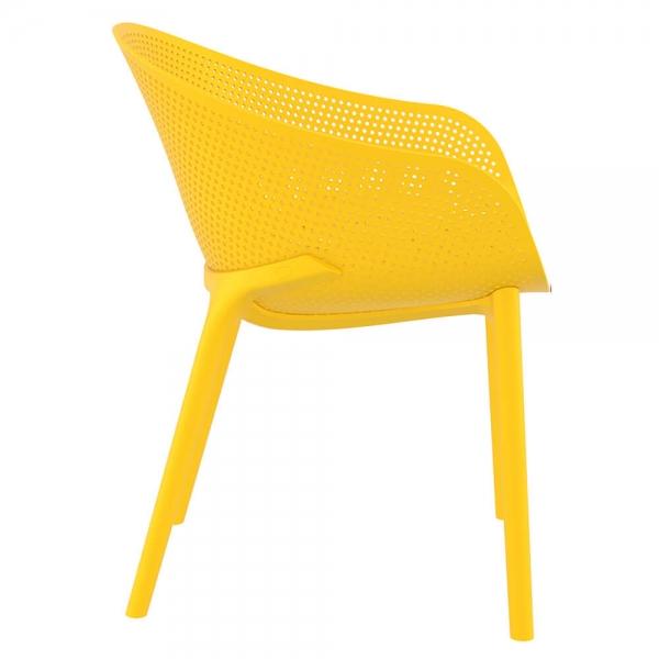 Fauteuil design pour extérieur en plastique jaune - Sky - 36