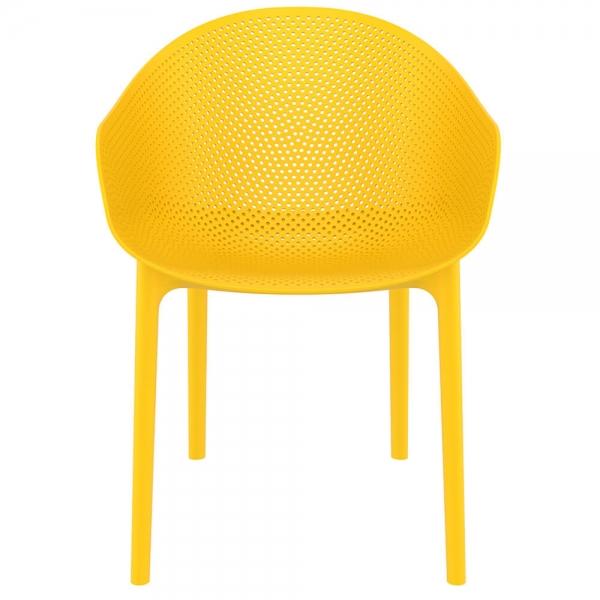Fauteuil design pour terrasse en plastique jaune - Sky - 37