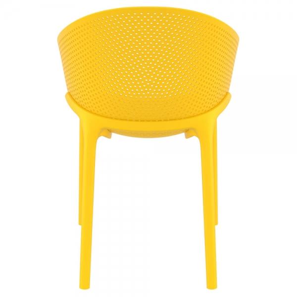 Fauteuil de jardin en plastique jaune - Sky - 39