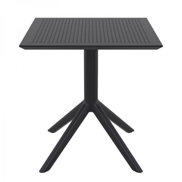 Petite table d'extérieur carrée en résine noire - Sky - 15