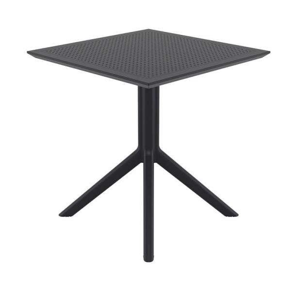 Petite table de terrasse carrée en résine noire - Sky - 17
