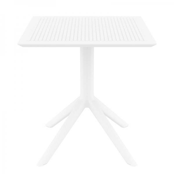 Table petit espace carrée en résine blanche - Sky - 7
