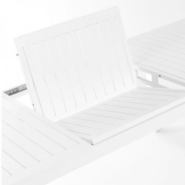 Table extensible blanche en aluminium - Triptic Grosfillex - 2