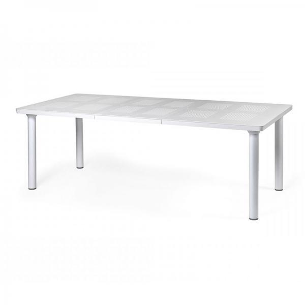 Table de jardin extensible blanche en polypropylène et aluminium - Libeccio - 4