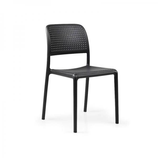 Chaise en polypropylène anthracite - Bora Bistrot - 11