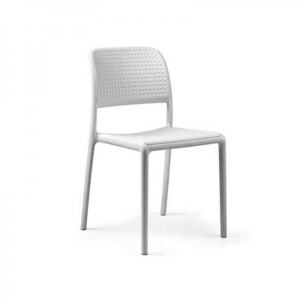 Chaise en polypropylène blanc - Bora Bistrot - 23