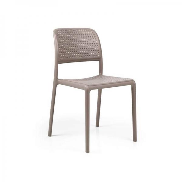 Chaise en polypropylène taupe - Bora Bistrot - 17