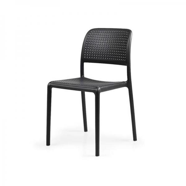 Chaise en polypropylène anthracite - Bora Bistrot - 12