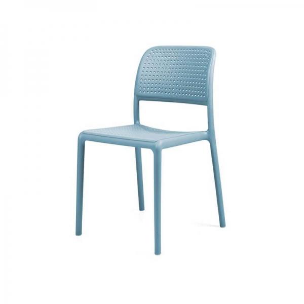 Chaise en polypropylène bleu - Bora Bistrot - 14