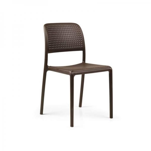 Chaise en polypropylène café - Bora Bistrot - 14