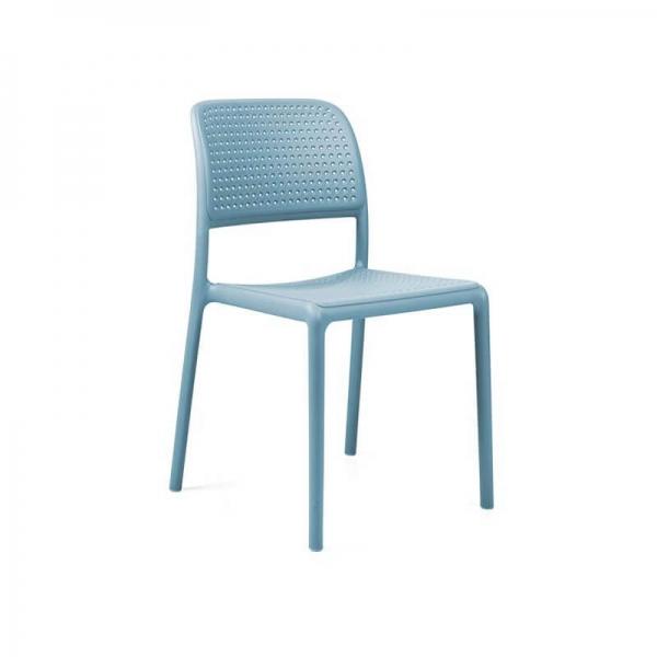 Chaise en polypropylène bleu - Bora Bistrot - 16