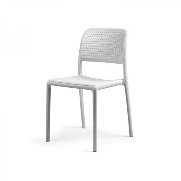 Chaise en polypropylène blanc - Bora Bistrot - 21