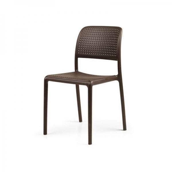 Chaise en polypropylène café - Bora Bistrot - 15