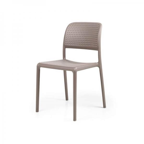 Chaise en polypropylène taupe - Bora Bistrot - 19