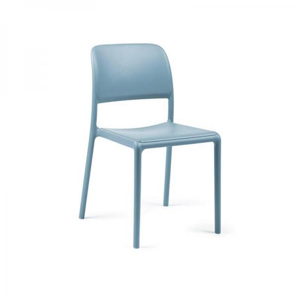 Chaise en plastique polypropylène bleu - Riva Bistrot - 7
