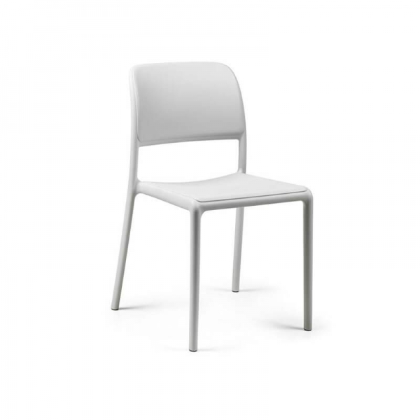 Chaise en plastique polypropylène blanc - Riva Bistrot - 11