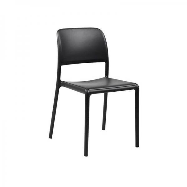 Chaise en plastique polypropylène anthracite - Riva Bistrot - 13