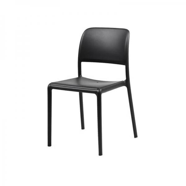 Chaise en plastique polypropylène anthracite - Riva Bistrot - 14