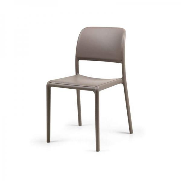 Chaise d'extérieur en plastique taupe - Riva Bistrot - 12