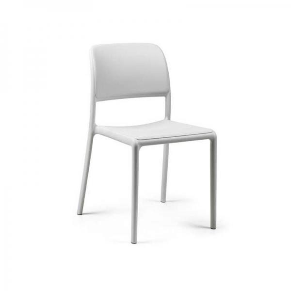 Chaise d'extérieur en plastique blanc - Riva Bistrot - 7