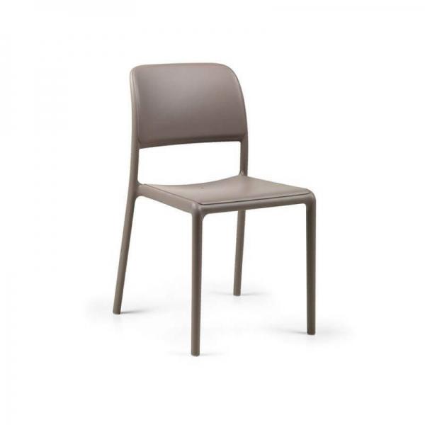 Chaise d'extérieur en plastique taupe - Riva Bistrot - 11