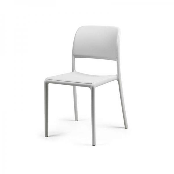 Chaise d'extérieur en plastique blanc - Riva Bistrot - 8