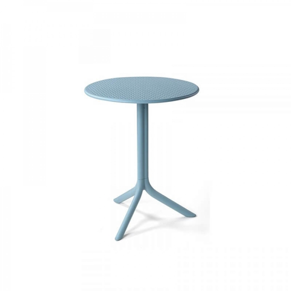 Table d'appoint de jardin en polypropylène bleu - Step - 2