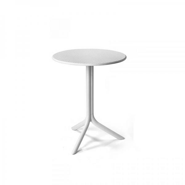 Table d'appoint de jardin en polypropylène blanc - Step - 6