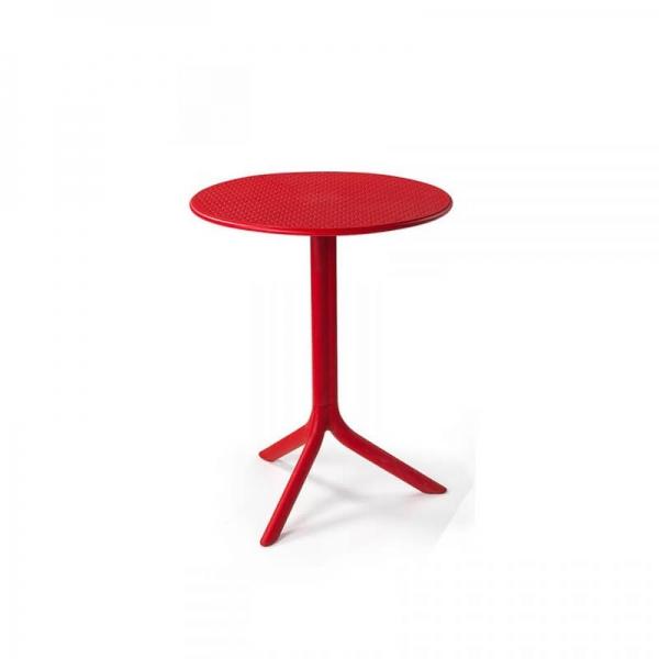 Table d'appoint de jardin en polypropylène rouge - Step - 7