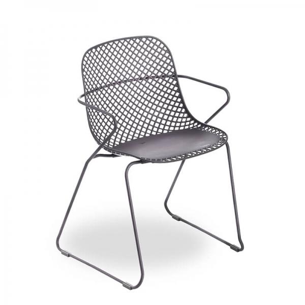 Chaise grise design en polypropylène et métal - Ramatuelle Grosfillex - 14