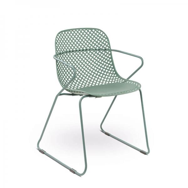 Chaise de salle à manger verte en polypropylène et métal - Ramatuelle Grosfillex - 29