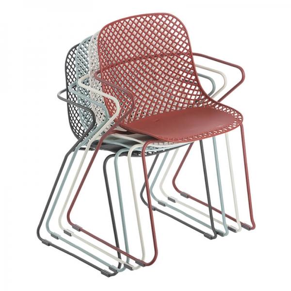 Chaises empilables vintage de fabrication française - Ramatuelle Grosfillex - 35