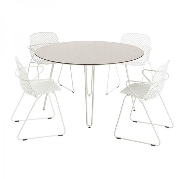 Chaises de jardin blanches design de fabrication française - Ramatuelle Grosfillex - 12