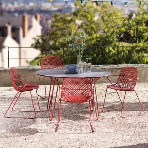 Table ronde de jardin design de fabrication française - Ramatuelle Grosfillex