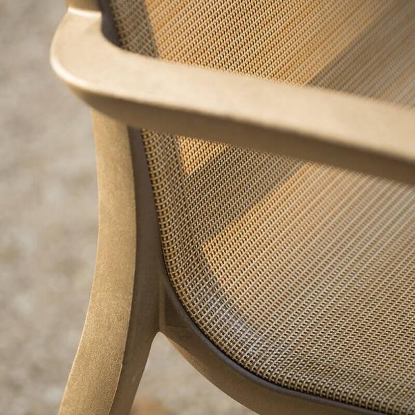 Fauteuil de jardin en toile et structure en polypropylène bronze - Sunset Grosfillex - 28